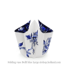 Folding vase with bow and design Delf blue large by Hendrik'