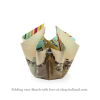 Folding vase with bow and design beach by Hendrik'