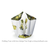 Folding vase with bow and design Van Gogh by Hendrik'