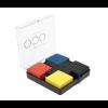 Giftbox: 4 wooden Mondriaan card stands