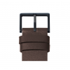 Brown leather srap and buckle of Tube D38 watch by Piet Hein Eek for LEFF Amsterdam