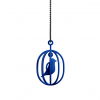 Pendant bird in a cage in blue