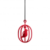 Happy Bird necklace red for valentine