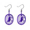 Dutch design earrings Happy Bird indigo