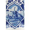 Delft blue windmill white porcelain Christmas tree bell for a typical Dutch Christmas tree