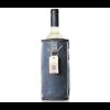Designer sheepskin wine cooler Wooler blue