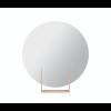 Look mirror round red brown by Dutch design brand Ignore