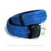 Pants Up Belt painted blue with a aluminium buckle by The Upcycle Amsterdam