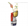 Paper vase cover Mondrian Large - a perfect gift for a conference