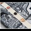 Stads sjaal Barentsz Urban Fabric stadskaart Rotterdam met pins van oa de Hef brug