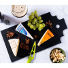 Finest cutting board Amsterdam black large - great gift