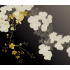 Print Chrysanthemums black and gold