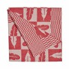 Rembrandt Tea Towel - Feather in Red at shop.holland.com