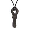 Leather necklace with licorice key bead