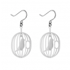 Dutch design earrings Happy Bird white: beautiful gift