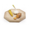Designer cheese board, octagon of wood by Frederijk Roijé