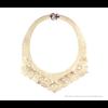 The Basic necklace of Nijenhuis Iris in uni gold colour – laser cut faux leather