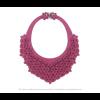 The Classic necklace fuchsia scuba leather look at shop.holland.com