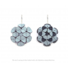 The Maxi's earrings in ice blue faux leather