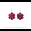 The Mini's earrings in fuchsia scuba suede by Iris Nijenhuis at shop.holland.com