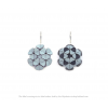 The Mini's earrings ice blue leather-look by Iris Nijenhuis at shop.holland.com