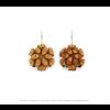 The Mini's earrings in ocher scuba suede by Iris Nijenhuis at shop.holland.com