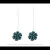 The Mini's on a Chain earrings aqua scuba suede by Iris Nijenhuis Iris in uni and multi-colour – extraordinary Dutch design jewelry
