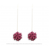 The Mini's on a Chain earrings fuchsia scuba suede by Iris Nijenhuis Iris in uni and multi-colour – extraordinary Dutch design jewelry