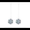 The Mini's on a Chain earrings ice blue leather look by Iris Nijenhuis Iris in uni and multi-colour – extraordinary Dutch design jewelry
