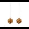 The Mini's on a Chain earrings ocher scuba suede by Iris Nijenhuis Iris in uni and multi-colour – extraordinary Dutch design jewelry
