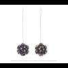 The Mini's on a Chain earrings Paeonia print by Iris Nijenhuis Iris in uni and multi-colour – extraordinary Dutch design jewelry