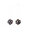 The Mini's on a Chain earrings in Peaonia print by Iris Basic Nijenhuis – handmade jewelry from Amsterdam
