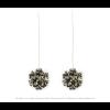 The Mini's on a Chain earrings Pied de Poule print by Iris Nijenhuis Iris in uni and multi-colour – extraordinary Dutch design jewelry