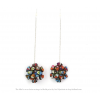 The Mini's on a Chain earrings Skulls print  by Iris Nijenhuis Iris in uni and multi-colour – extraordinary Dutch design jewelry