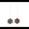 The Mini's on a Chain earrings Skulls print by Iris Basic Nijenhuis – handmade jewelry from Amsterdam