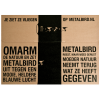 The metal bird Woodpecker Metalbird is packaged environmentally-friendly
