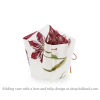 Folding vase with a bow Tulips by Jacob Marrell at shop.holland.com