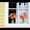 Window sticker Flat Flowers poppy at shop.holland.com