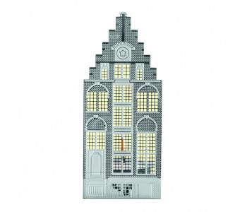 Holland Design, Invotis, Wohnaccessoires, Kerzenhalter, Grachtengebäude, Edelstahl