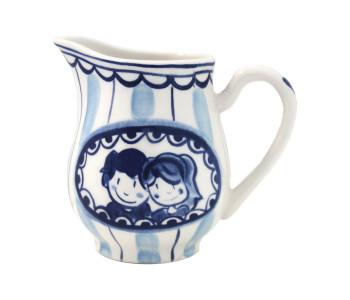 Milchkanne Delfter Blond von Blond Amsterdam in Blau-Weiß, als Hochzeitsgeschenk geeignet