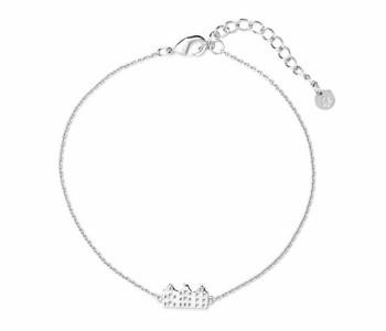 Zilveren armband Canal met 3 grachtenpandjes van het merk Riverstones