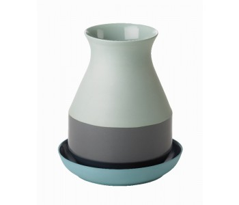 Bat Trang Vase Medium Blue