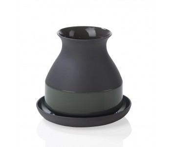 Bat Trang Vase Small Dark Gray
