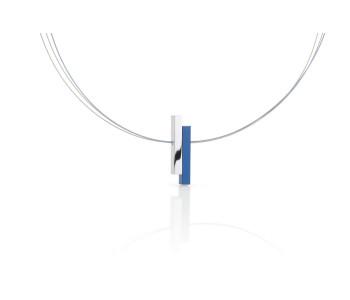 Clic Creations Kette Blau Frau, Halsschmuckstück Fashion, Click Creations handgefertigt Dutch Design Schmuckstück