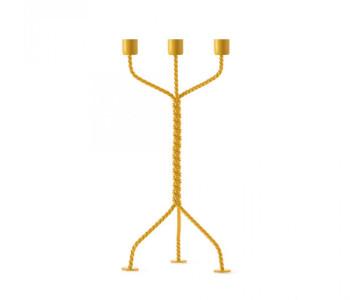 Twisted Kerzenhalter in Gelb