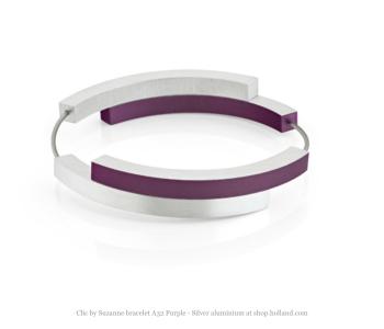 Clic by Suzanne armband A32P in paars en zilver aluminium koop je bij shop.holland.com