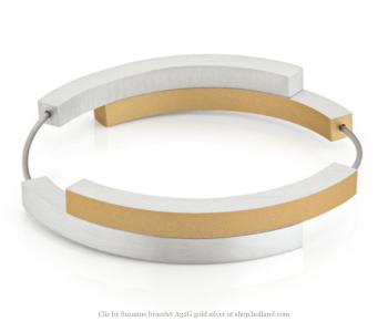 clic by Suzanne armband A32G zilver en goud vind je bij shop.holland.com