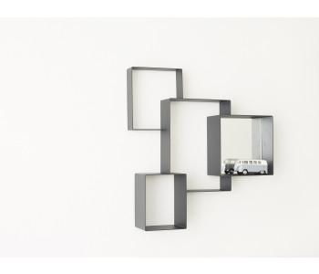 Wandmöbel Metall Cloud Cabinet Dunkelgrau Studio Frederik Roijé