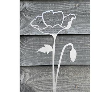 Bloemen van Cortenstaal van Studio Divers - klaproos 70 cm