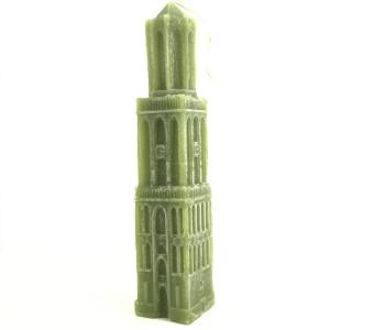 Kaars Domtoren Utrecht - 33 cm olijfgroen koop je bij shop.holland.com